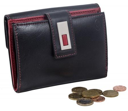 100% Qualität autorisierte Website bekannte Marke Damen Leder Geldbörse Brieftasche Portemonnaie Schwarz ROT 62 Neu OVP