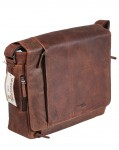 Laptoptasche Computertasche Greenland Nature Leder braun XXL