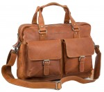 Chesterfield Laptoptasche Computertasche Aktentasche Büffel Leder Cognac OVP