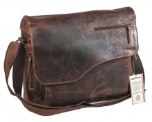 Laptoptasche Computertasche Aktentasche Greenland Nature Leder braun XL OVP